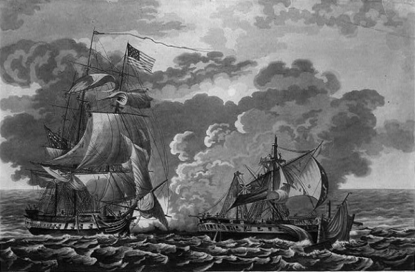 The USS Constitution battles the HBM Java
